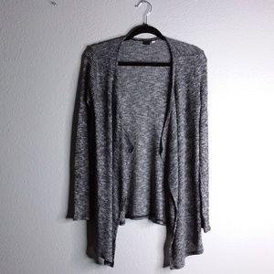 Volcom drape front black and white cardigan -M